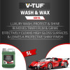 V-TUF VTC620 5 LITRE LUXURY WASH & WAX 10X CONCENTRATED - NON-CAUSTIC - 100% BIODEGRADABLE